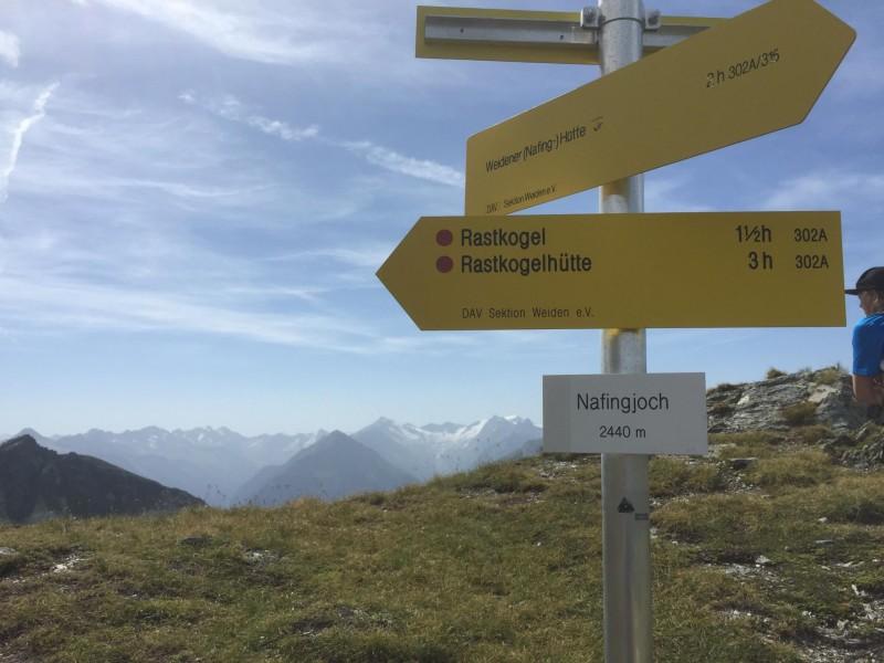 Nafingjoch 2440m