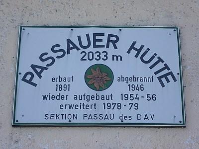 Passauer Hütte 2033m