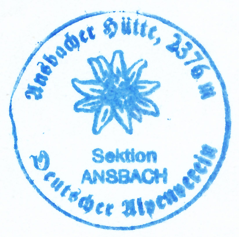 Ansbacher Hütte 2376m