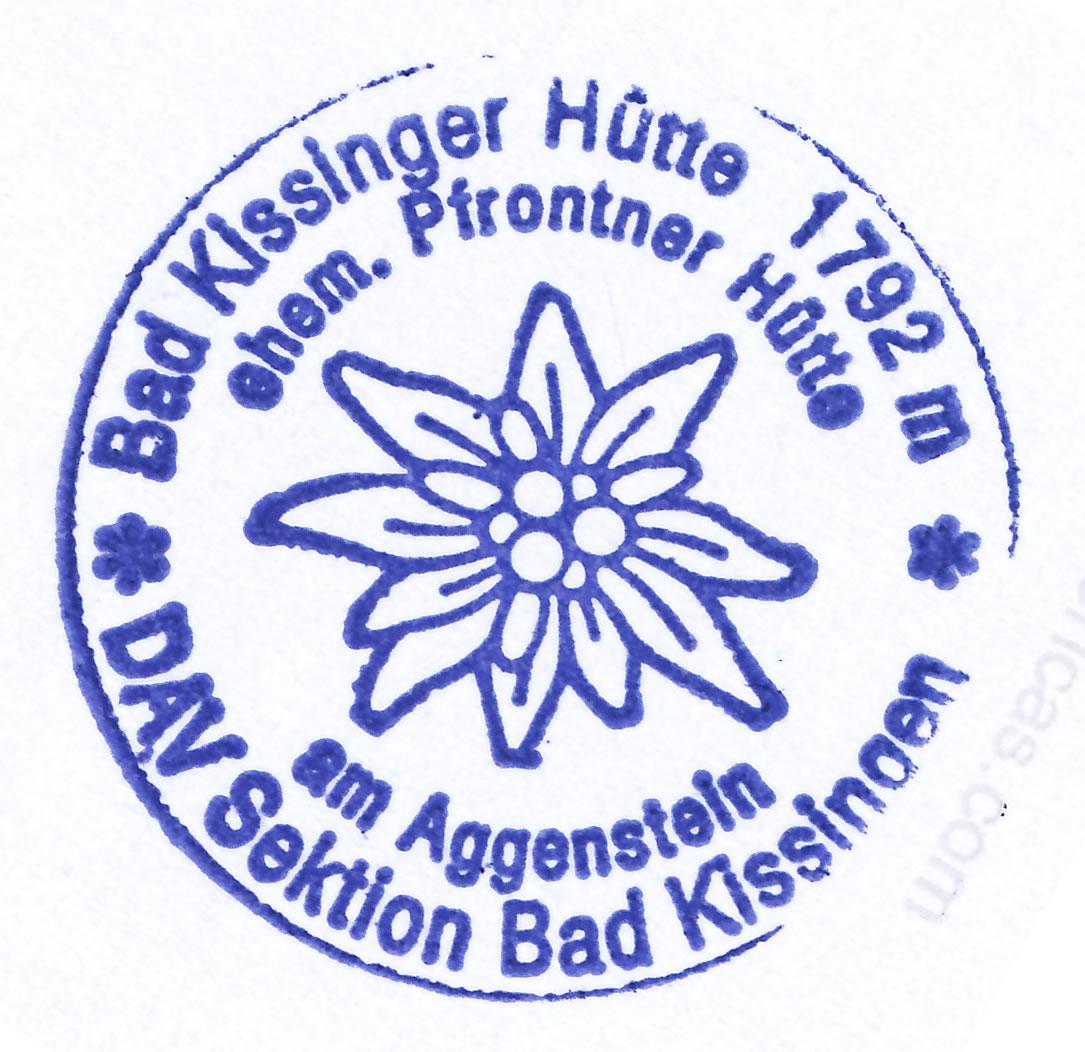 Bad Kissinger Hütte 1782m