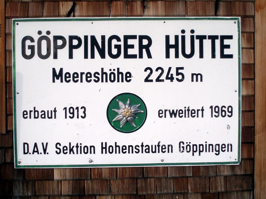 Göppinger Hütte 2245m