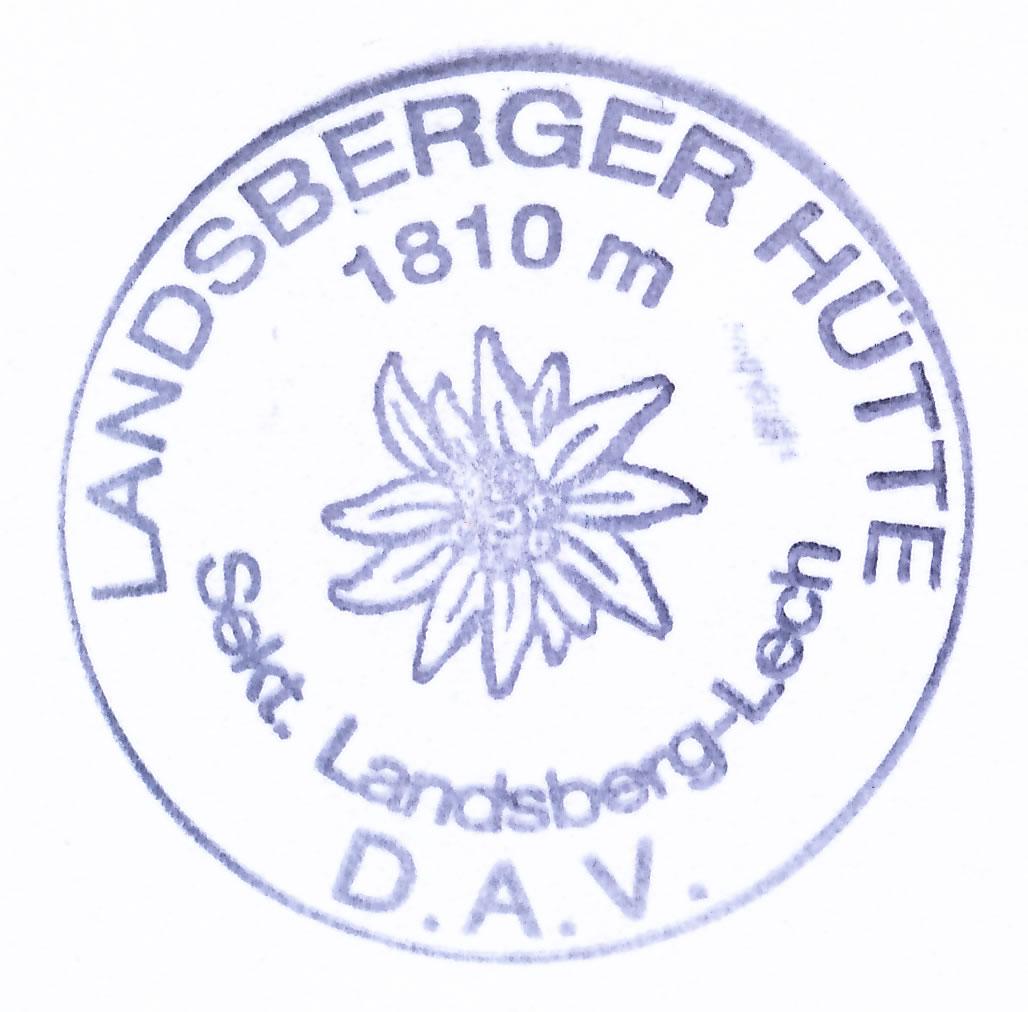 Landsberger Hütte 1810m