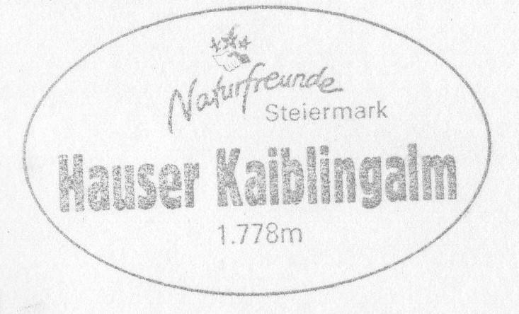 Naturfreundehaus Kaiblingalm 1784m