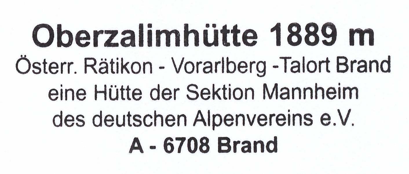 Oberzalimhütte 1889m