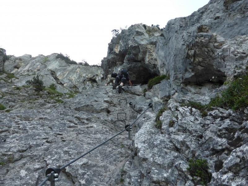 Klettersteig - Tegelbergsteig (B/C) - Branderschrofen