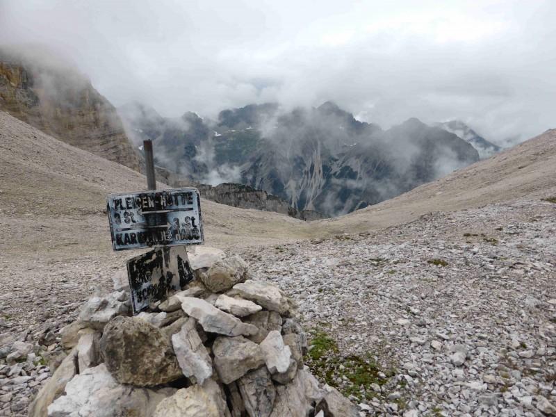 Pleisenhütte - Birkkar-Notbiwak - Karwendelhaus