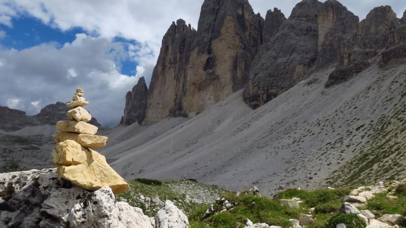 Rifugio Auronzo - Rifugio Lavaredo - Paternsattel - Dreizinnenhütte - Langalm - Zinnenkuppen-Pass - Rifugio Auronzo