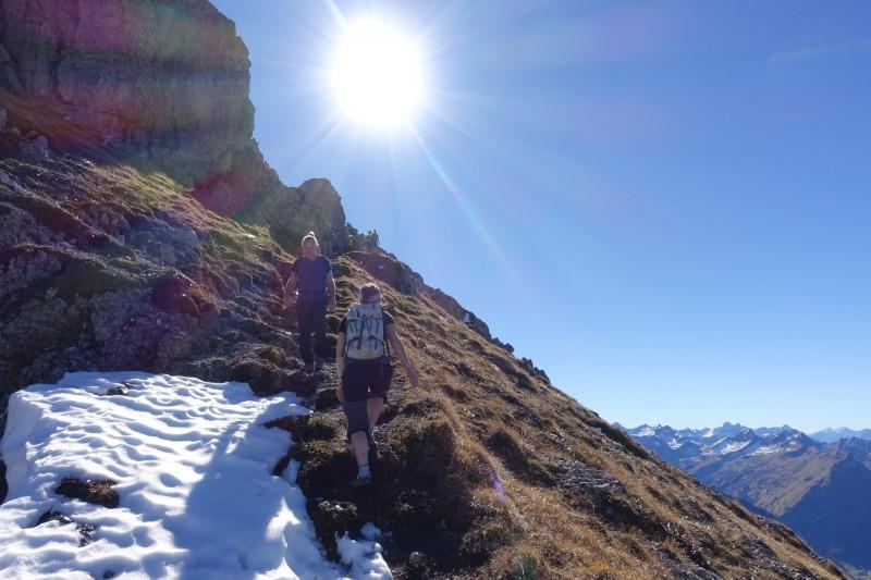 Vilsalpsee - Obere Rossalpe - Gaishorn - Rauhorn - Kugelhorn - Knappenkopf - Landsberger Hütte