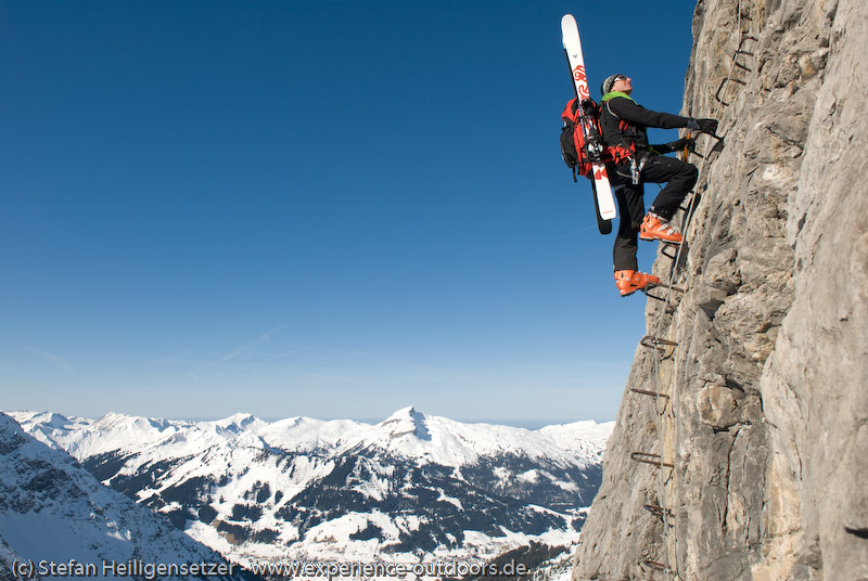 Klettersteig Mindelheimer : Mindelheimer klettersteig fiderepasshütte hütte