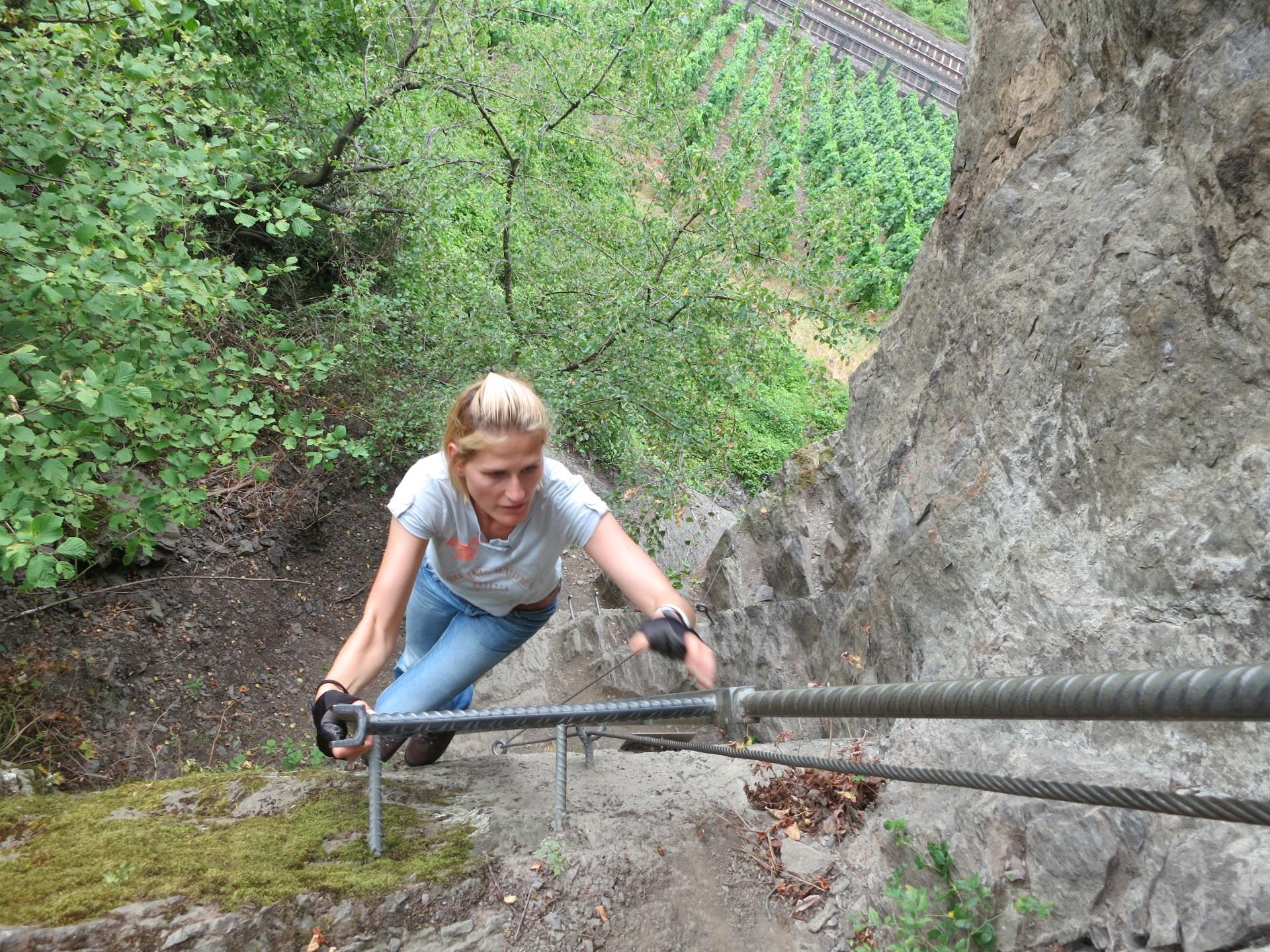 Klettersteig Rhein Boppard : Mittelrheinsteig klettersteig boppard foto