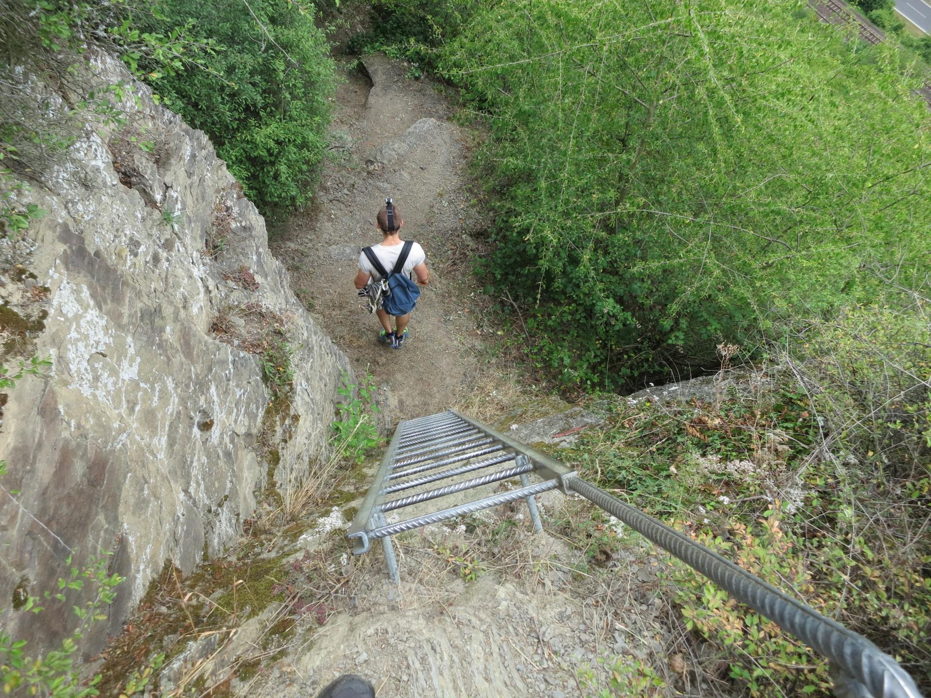Klettersteig Boppard : Mittelrheinsteig klettersteig boppard
